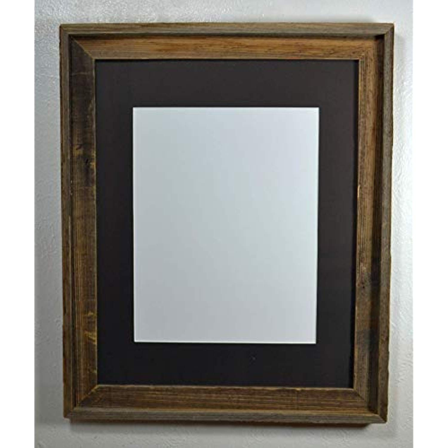 11x14 Display Frame Black Mat Reclaimed Wood With Glass And Installed Hardware Want Addi Reclaimed Wood Picture Frames Wooden Picture Frames Wooden Picture