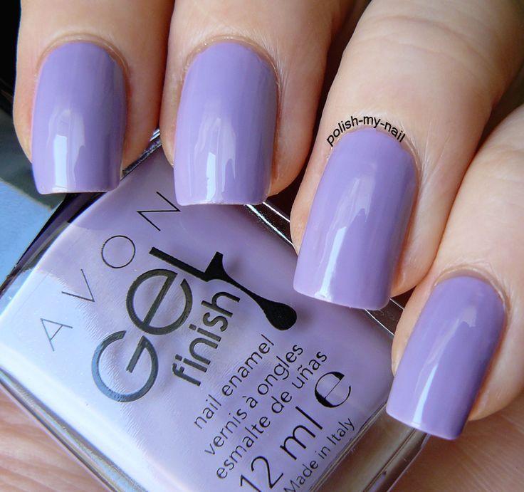 Avon Pink Nail Polish: Avon Gel Finish Lavender Sky