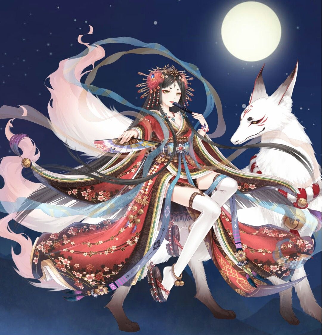 The kitsune set reminds me of Puccini's Madame Butterfly