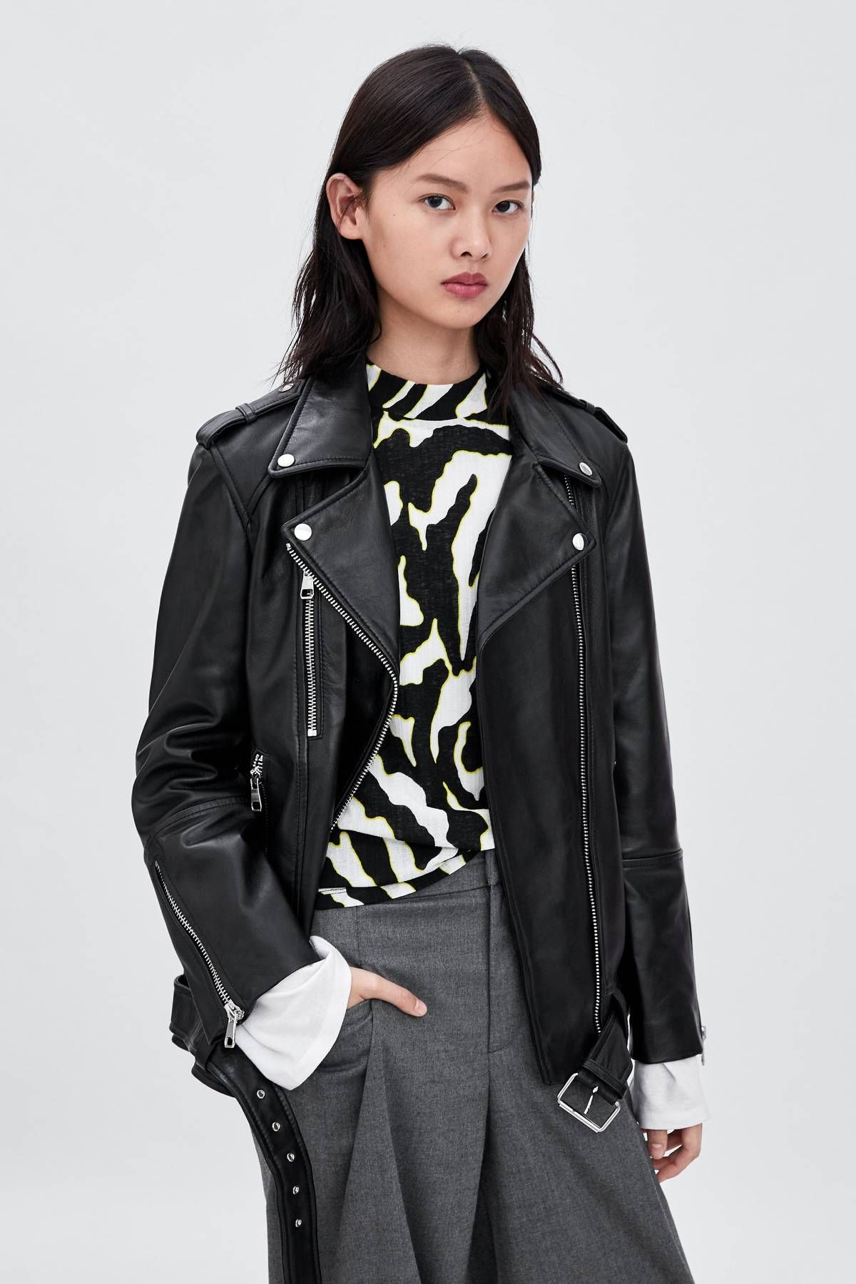 20 Zara Items I Know Will Still Be Cool In 2020 Leather Jacket Outfits Leather Bomber Jacket Women Zara Leather Jacket [ 1800 x 1200 Pixel ]