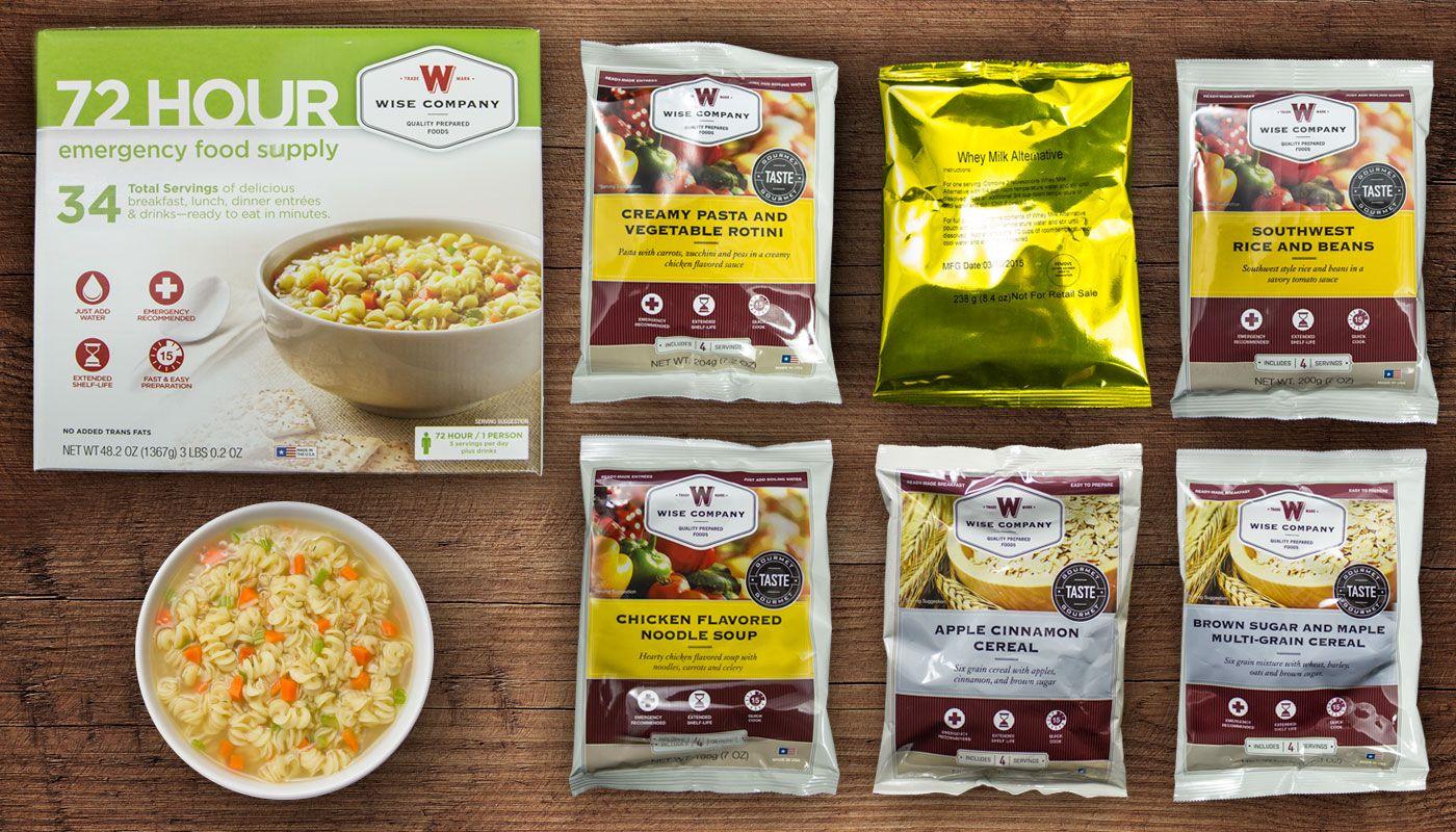 Wise 72 hour emergency food supply wise food storage