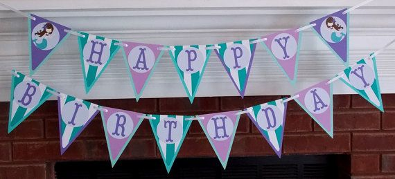 Mermaid happy birthday do it yourself banner kit under the sea mermaid happy birthday do it yourself banner kit under the sea birthday party solutioingenieria Image collections