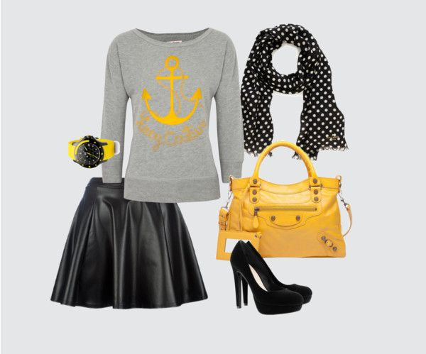 """""""black and yellow"""" by tantrika23 on Polyvore"""