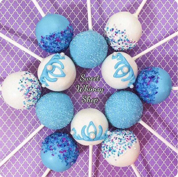 Frozen Cake Pops With Images Frozen Cake Pops Frozen Theme