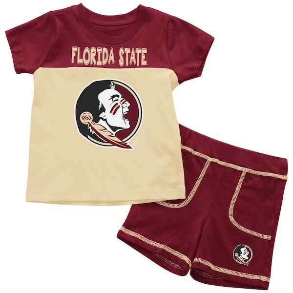 48184a1f8b65 Florida State Seminoles Colosseum Infant Giddy Up T-Shirt   Shorts  Two-Piece Set