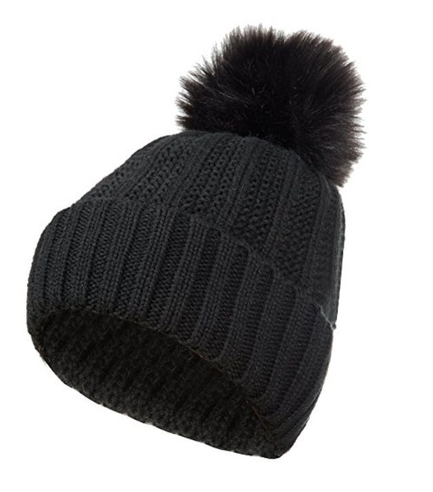a50504d743b GLOUE Women s Winter Beanie Warm Fleece Lining Slouchy Cable Knit Skull Hat  Ski Cap