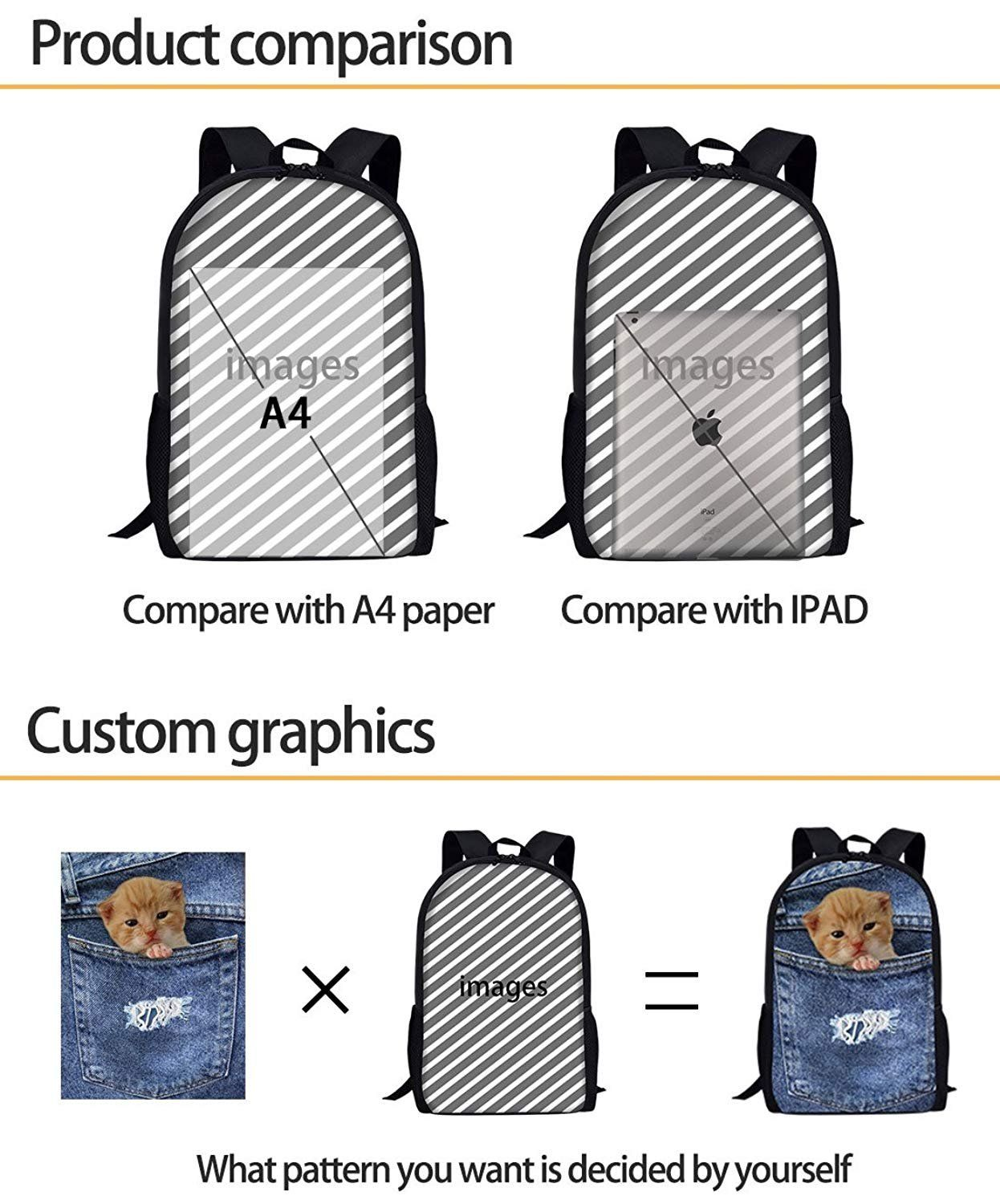 75557b0a0a60 iPrint Kids School Backpack Cars,Inner View of Exquisite Sports Car  Steering Wheel Valuable Aesthetic Retro Auto Details Print,Red Plain Bookbag  Travel ...