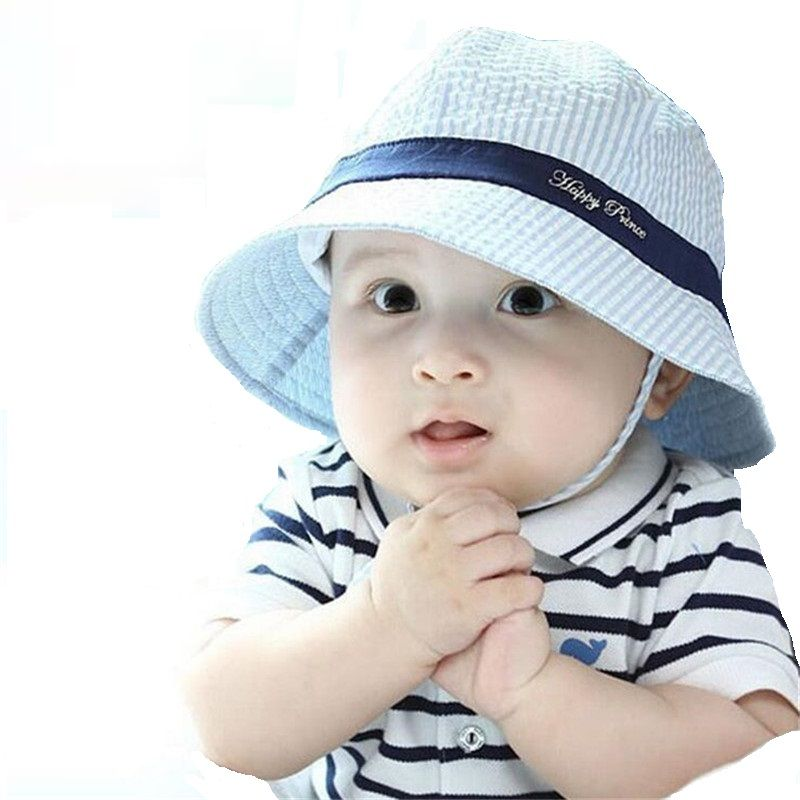 Summer baby Hat Infant Cotton Sun Hat for boys children bucket Cap kids caps  for girls autumn Beach sun caps b34d4772ea63