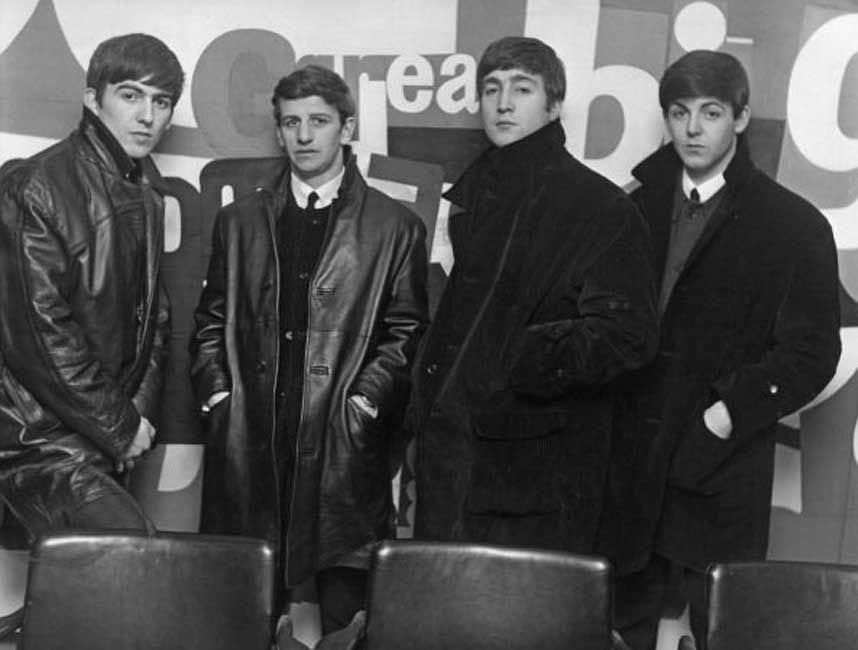 The Beatles posed at the Austin Reed store in Regent Street ...