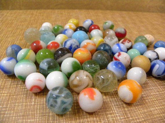 Vintage Glass Marbles Collection Of 58 Antique By Redrubyretro Glass Marbles Marble Rock Glass Paperweights