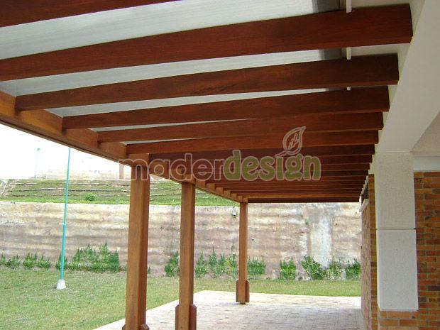Columna techo viga de madera buscar con google - Techos para pergolas de madera ...