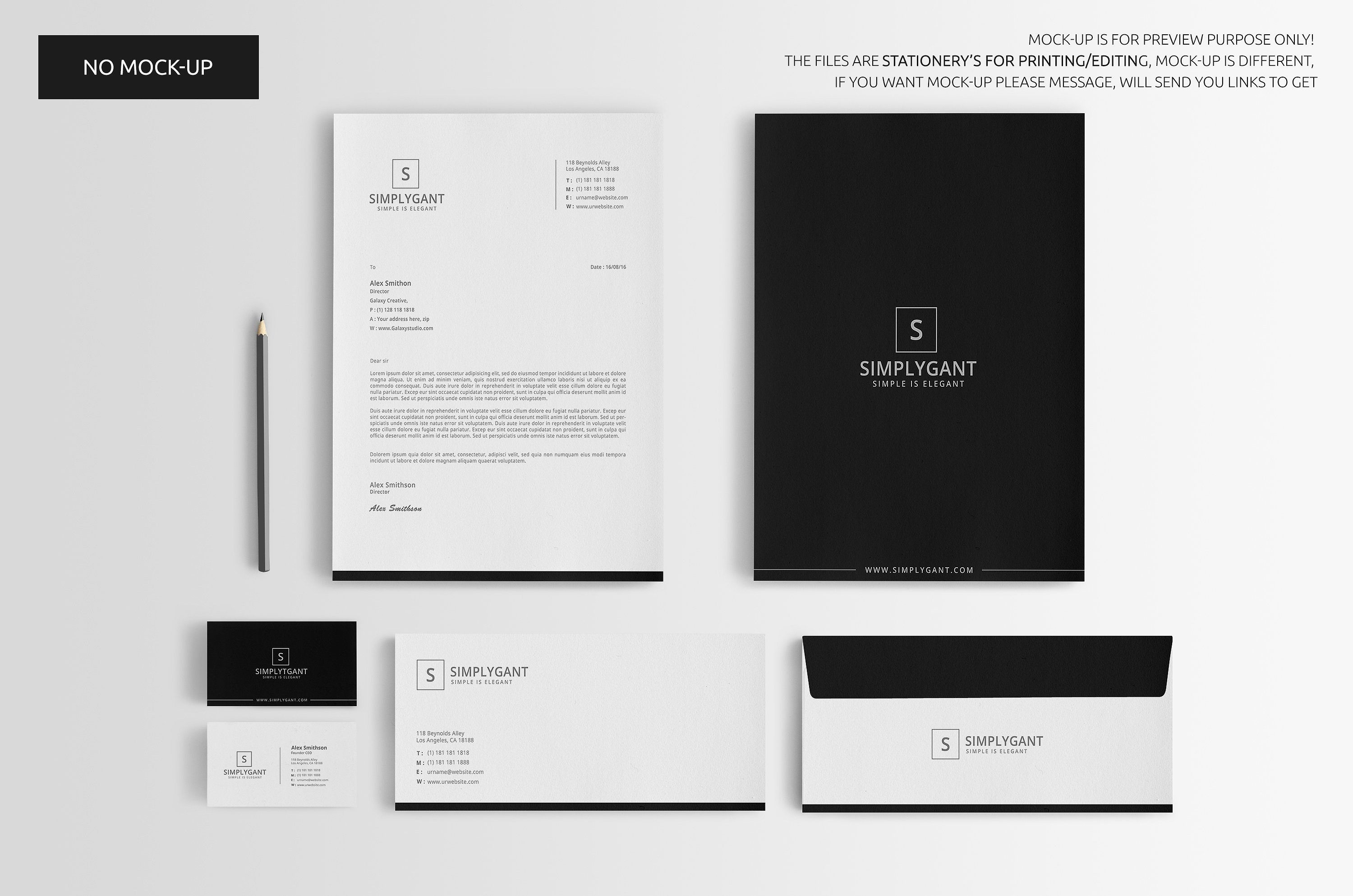 simple minimal corporate stationery template set. includes cv sample for restaurant job resume college application executive summary samples