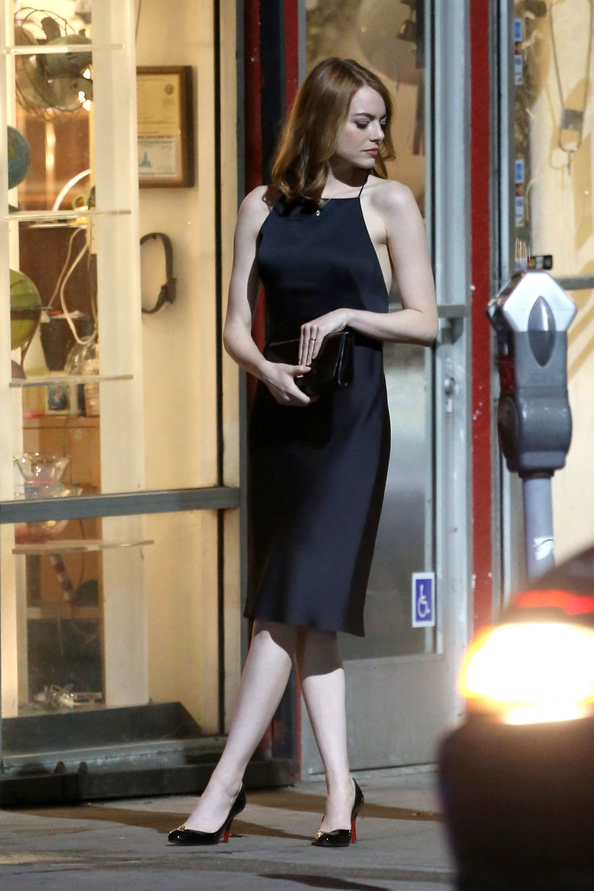 EMMA STONE on the Set of La La Land in Hollywood 09/19/2015 | Style ...