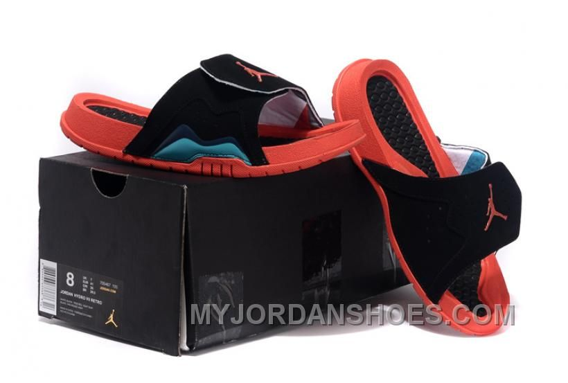6e139a9891fa Jordan Hydro VII Retro 7 Hare Red Black Size 36-39 Girls Slide GebJp ...