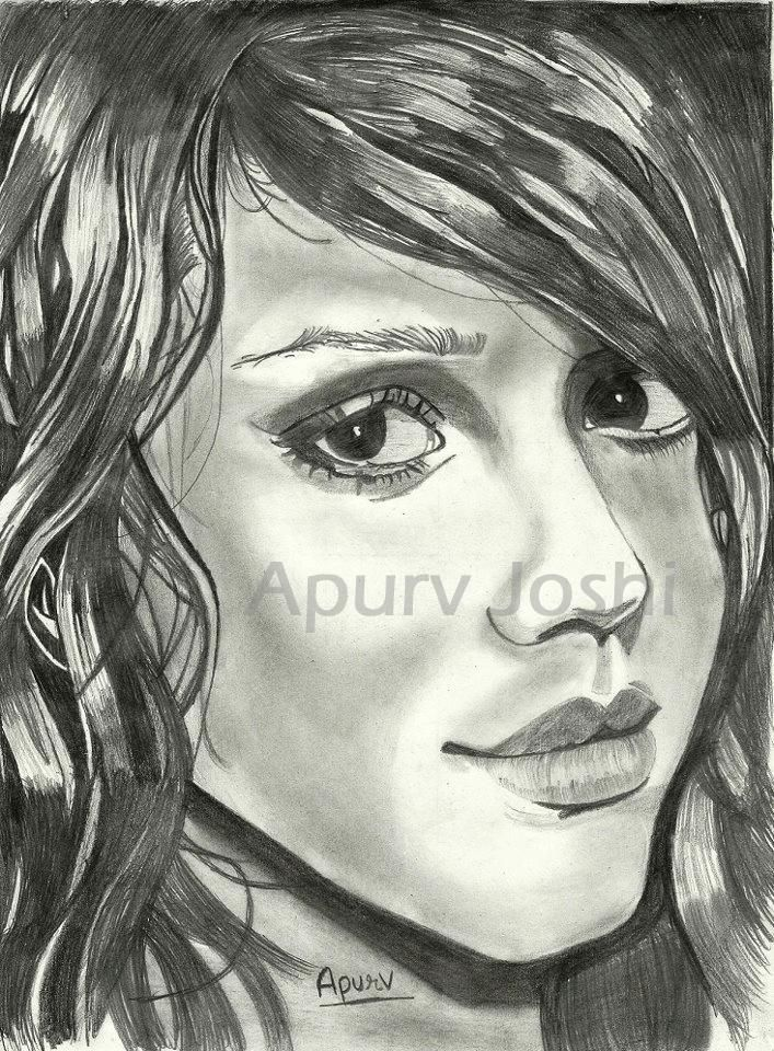 Jessica Alba - Sketching by Apurv Joshi in My sketches at touchtalent 40996