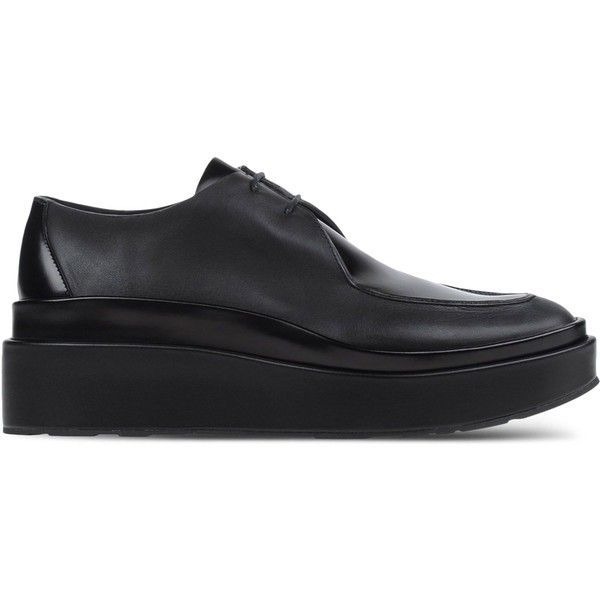 Jil Sander Oxfords & Brogues (€165) ❤ liked on Polyvore featuring shoes, oxfords, black, black wedge shoes, black oxfords, oxford brogues, balmoral oxfords and brogue oxford