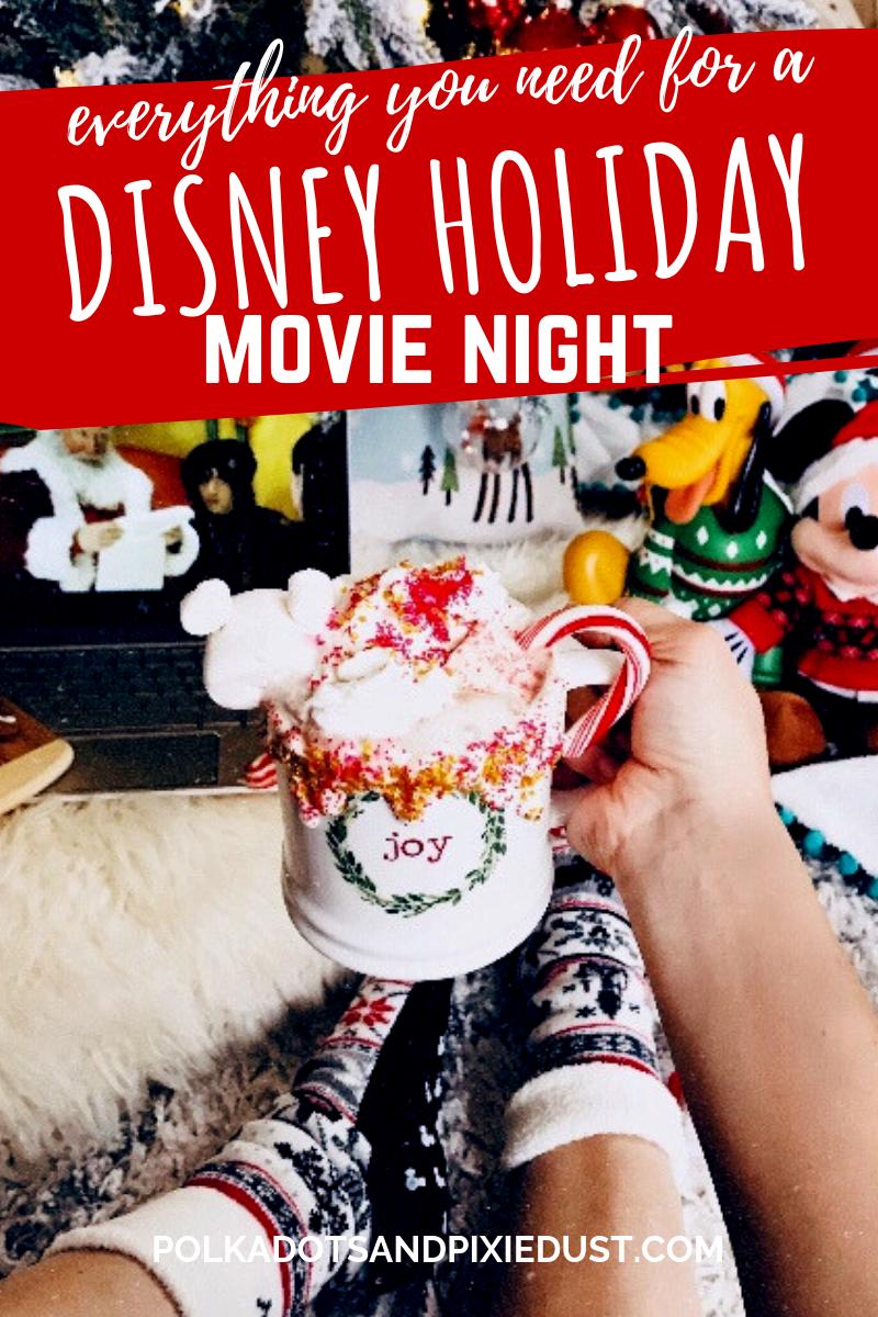 A Disney Christmas Movie Night Christmas Movie Night Disney Christmas Movies Disney Christmas
