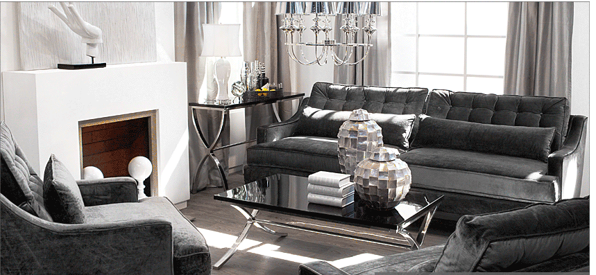 Old Hollywood Decor Living Room Glamour Living Room La