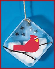 Preschool Winter Crafts Winter Bird Decoration Highlightskids