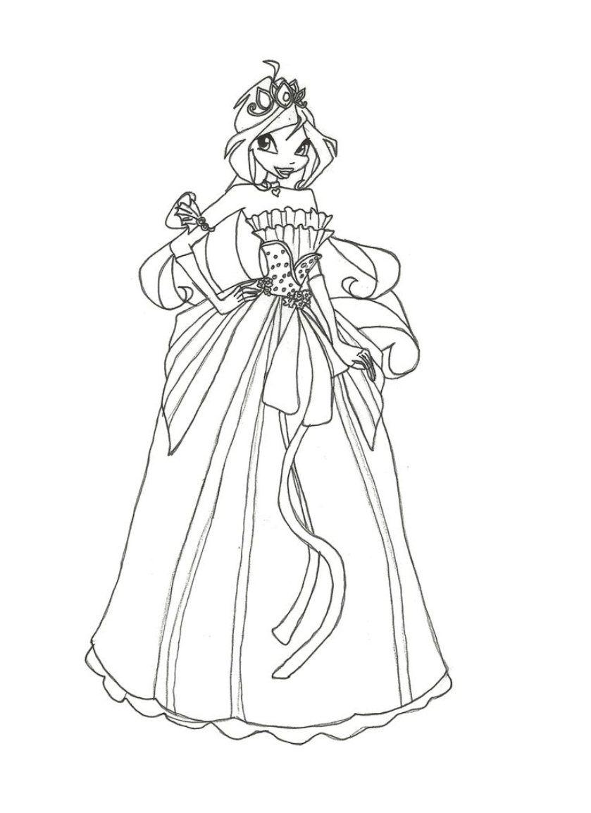 Winx Princess Coloring Pages Boyama Sayfalari Boyama Kitaplari