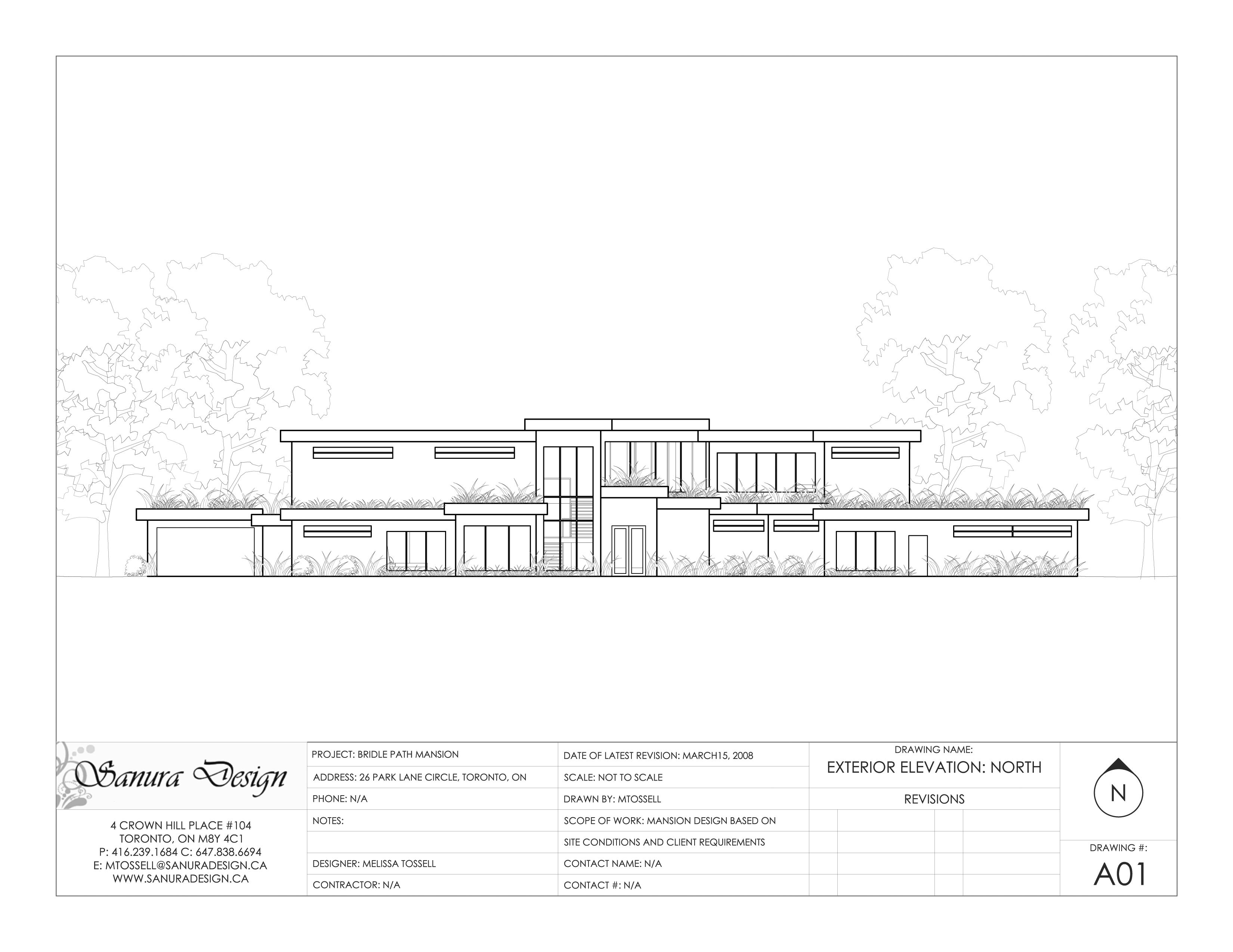 Front Elevation Roof : Mansion concept contemporary natural style with green