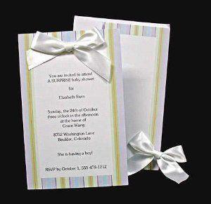 Wilton Baby Or Wedding Shower Stripe Invitation 10 Sets Health Personal Care