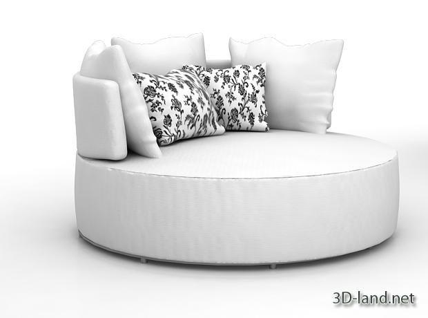 Round Couch. Parfait Pour Faire Une Sieste En Après Midi Pendant Que Jeff  écoute