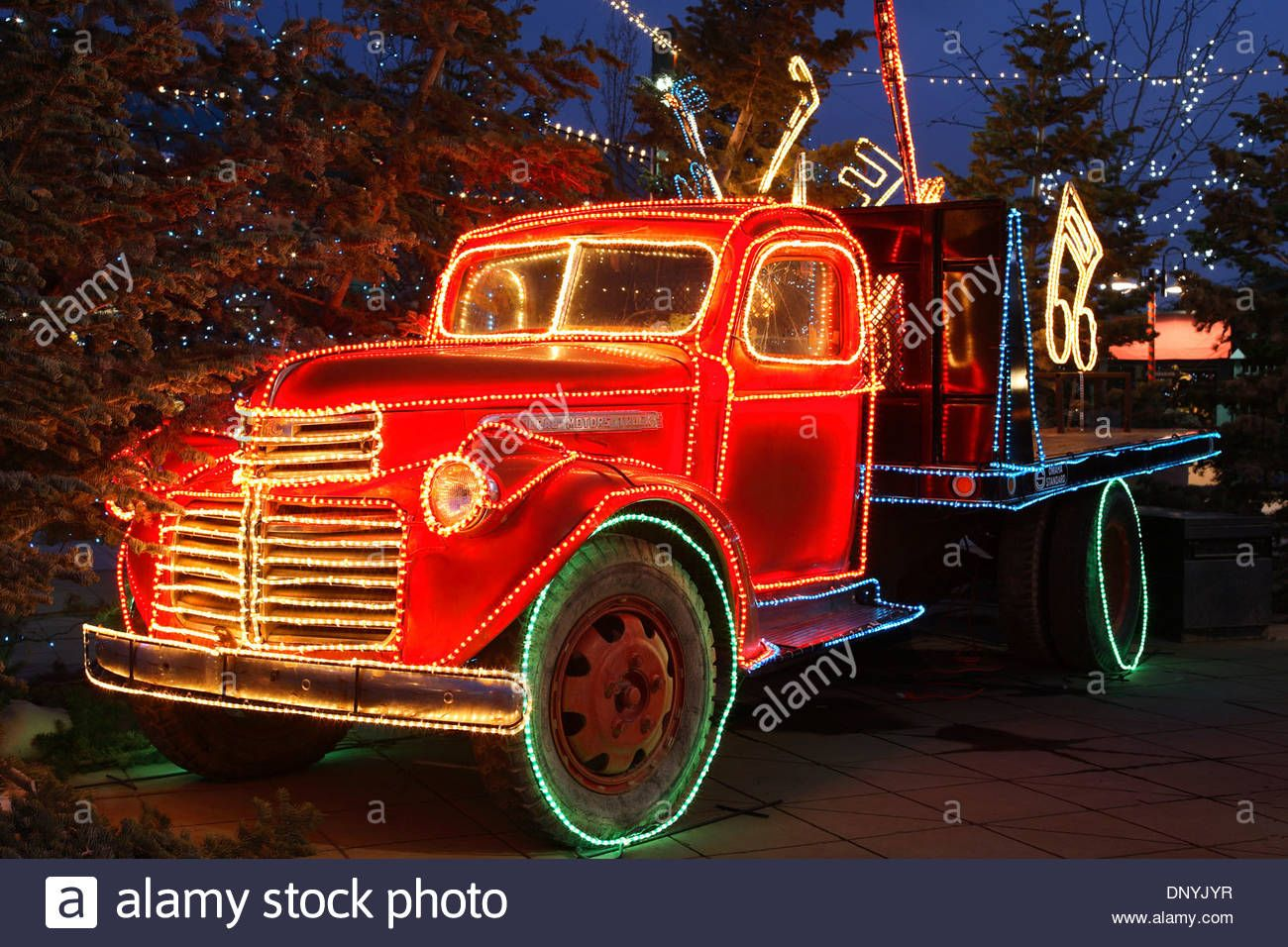Truck Decorated With Christmas Lights River Of Lights With