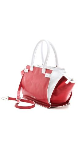 CoSTUME NATIONAL Red & White Satchel | SHOPBOP