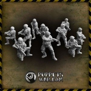 Puupets War Resin Tactical Troopers- Near Future, SWAT, Imperial Guard