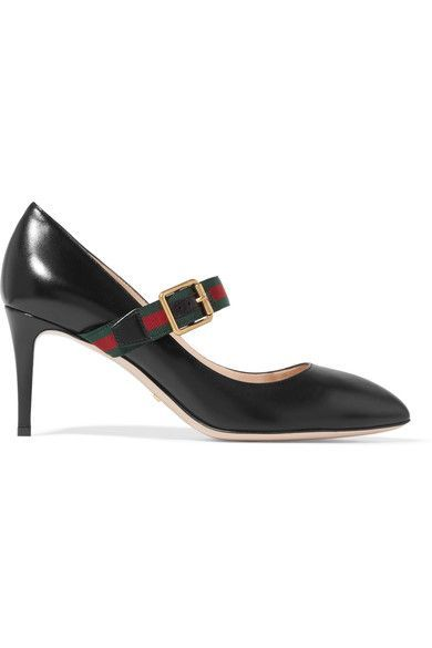 859bcdcdb2a Gucci - Sylvie Leather Point-toe Pumps - Black
