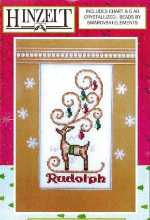 Rudolph is the title of this cross stitch pattern from Hinzeit's Crystal Series that is stitch with DMC threads. The pattern does includes t...