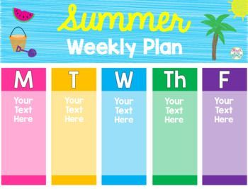 Editable* Summer Schedule, Weekly Planner, Daily Checklist & Bucket List #summerschedule *Editable* Summer Schedule, Weekly Planner, Daily Checklis #summerschedule
