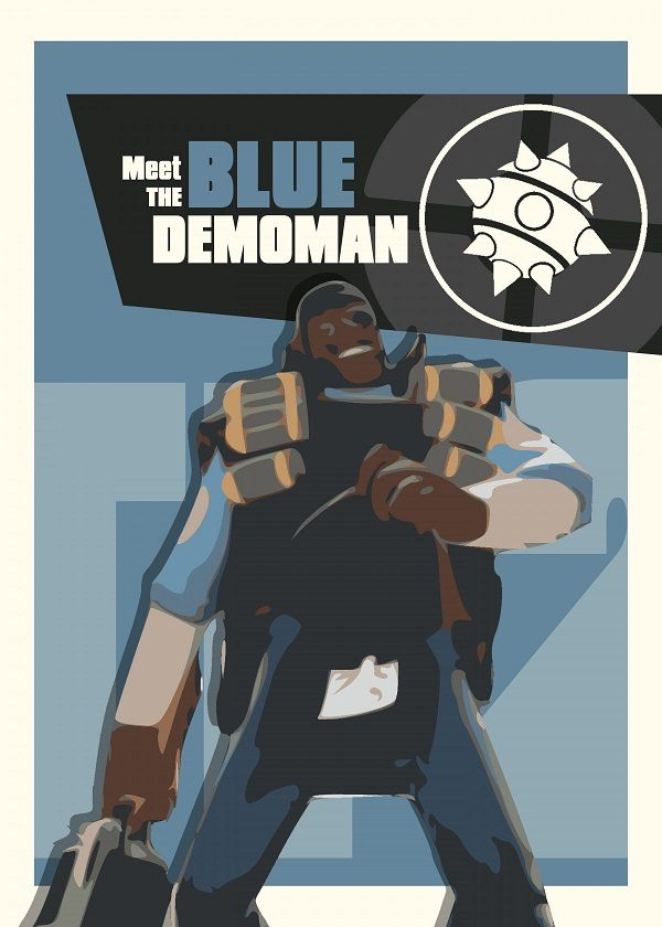 "Team Fortress 2 Characters Meet The Blue Demoman #Displate explore Pinterest""> #Displate artwork by… 