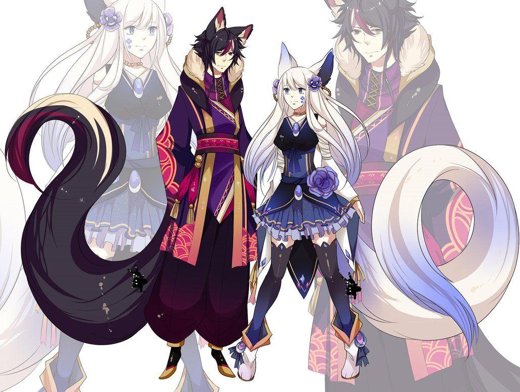 Closed Youkai Adopts 12 Auction By R0hi0 Deviantart Com On Deviantart Character Design Anime Characters Anime Animals