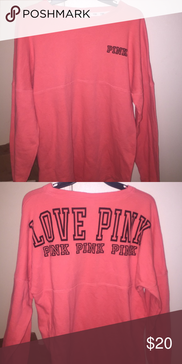 VS pullover fleece on inside, very warm and a little over sized. very cute with leggings'! PINK Victoria's Secret Tops Sweatshirts & Hoodies