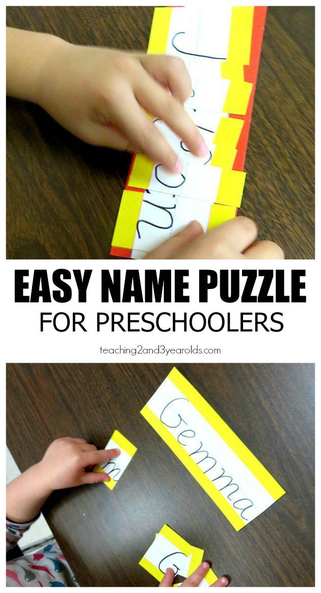 Easy Homemade Name Puzzle #creativeartsfor2-3yearolds