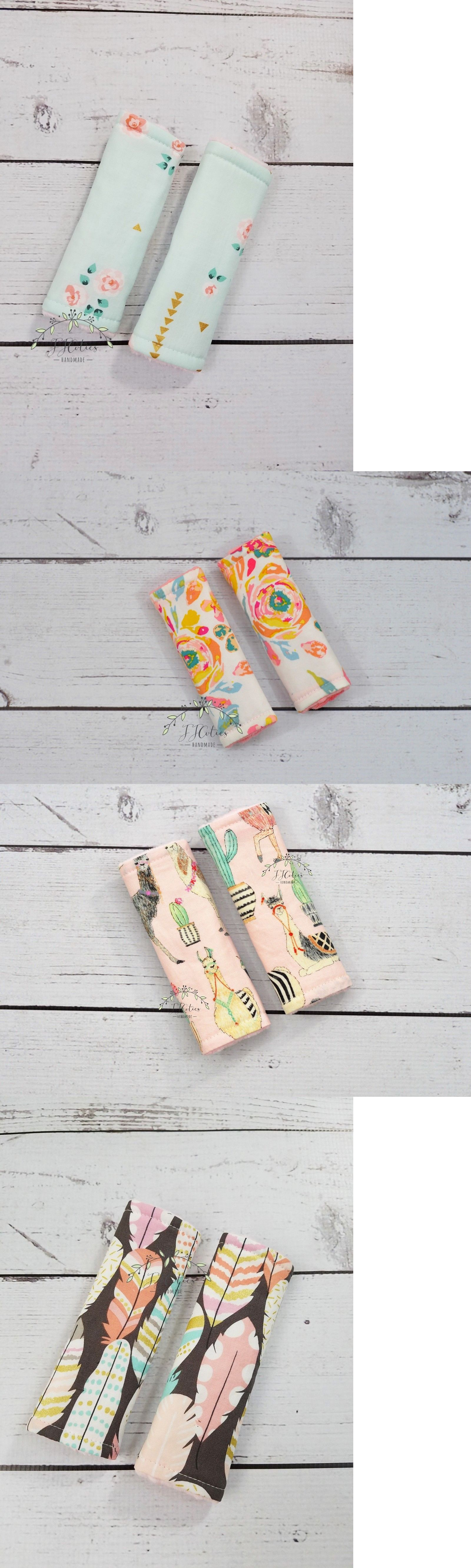 Seat Liners 180916 Reversible Infant Baby Girls Pink Mint Coral Minky Car Strap Cover Nursery BUY IT NOW ONLY 15 On EBay