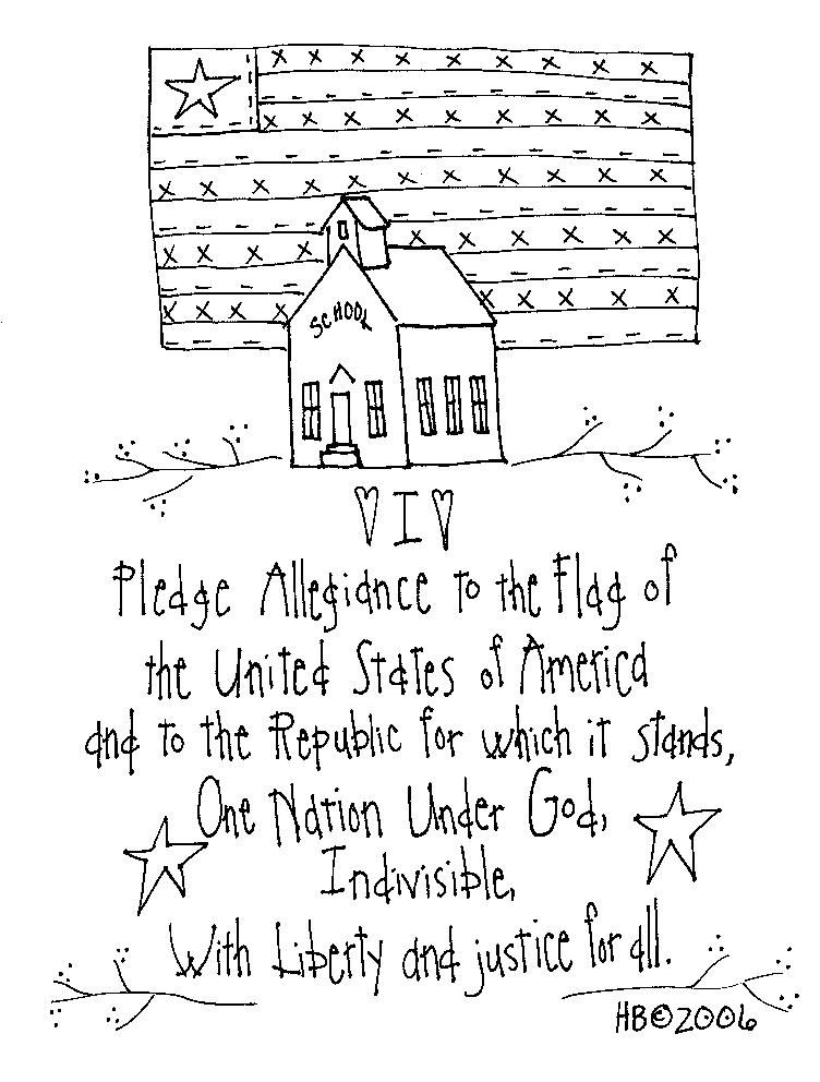 The pledge allegiance to the flag of the United States of America ...