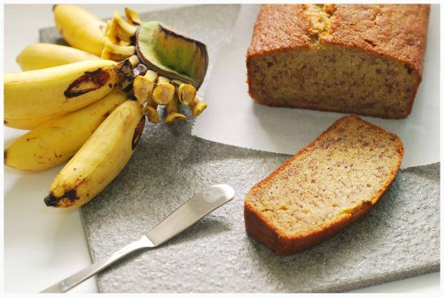 Banana bread with fall spices added: Dry: 3/4 cup brown rice flour 1/2 cup + 2 T gluten-free oat flour (ground rolled oats) 3/4 cup potato starch 1/4 cup tapioca starch 1 tsp ginger 1 tsp cinnamon 1 tsp baking soda 1 tsp baking powder 1/2 tsp salt Wet: 1/2 cup applesauce, warmed up and then mixed with ½ tsp baking powder 1/4 cup coconut oil, melted 1/2 cup maple syrup 1/2 cup unsweetened almond milk 4 ripe bananas 1 tsp vanilla extract. Bake at 350 for about 55 mins!