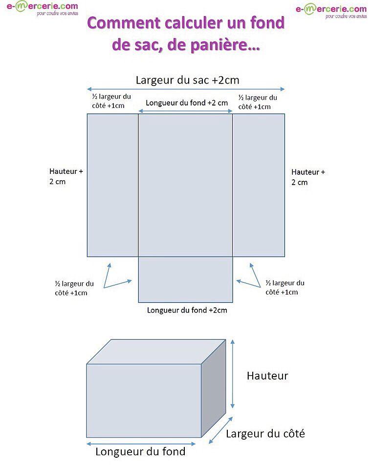 comment calculer les dimensions d 39 un sac calcul outils. Black Bedroom Furniture Sets. Home Design Ideas