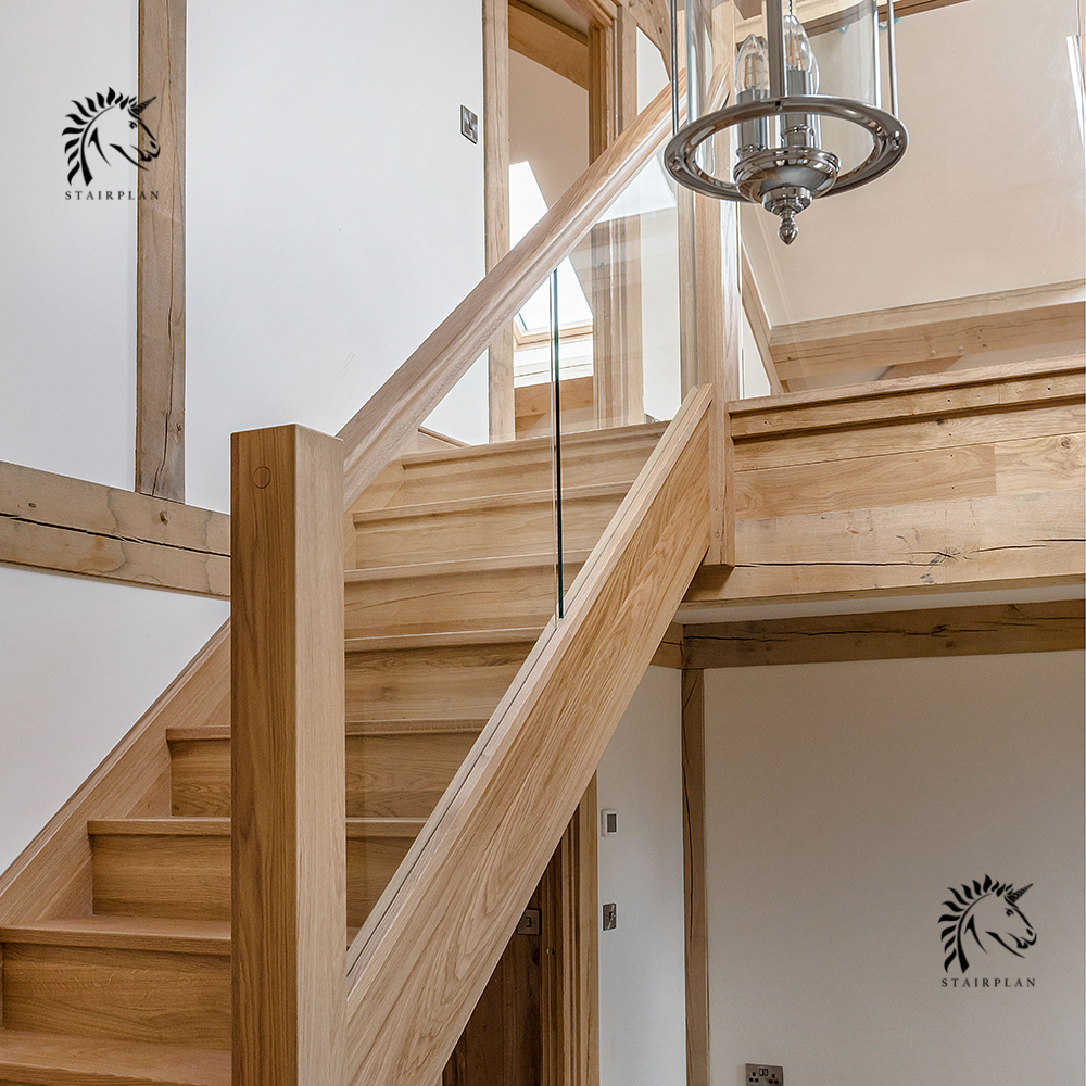 Best Luxury Preston Oak And Glass Staircases Select Oak 640 x 480