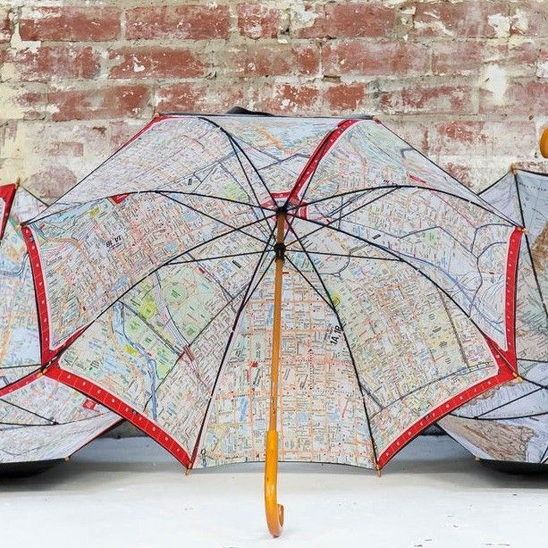 Don't get caught out on a rainy day without one of our uber cool looking umbrellas.  Keep one handy in the car or at home and stay dry when it rains. These umbrellas are black on the outside and match with any outfit that you may be wearing - and have a Melway map print on the inside. You almost want it to rain just so you can see the design. We don't however suggest that you use your map for street finding when in use.  They are big enough to also cover a friend too - if you snug in tight…