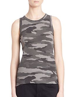 38fe800a7ddca Current Elliott - Sleeveless Camo Muscle Tee Muscle T Shirts