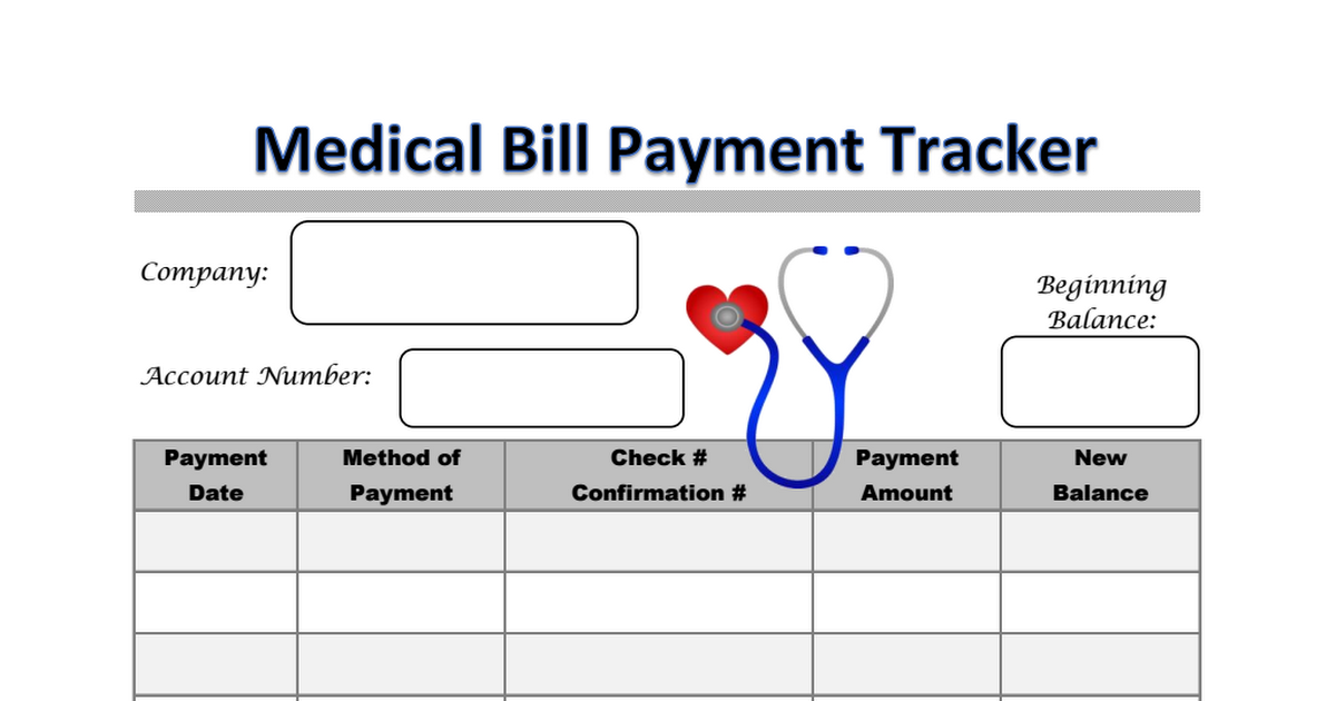 medical bill payment tracker.pdf (With images) Medical