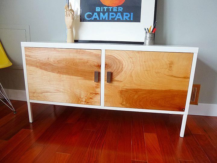 relooker une armoire ikea en meuble ann es 50 haut de gamme porte m tallique armoires. Black Bedroom Furniture Sets. Home Design Ideas