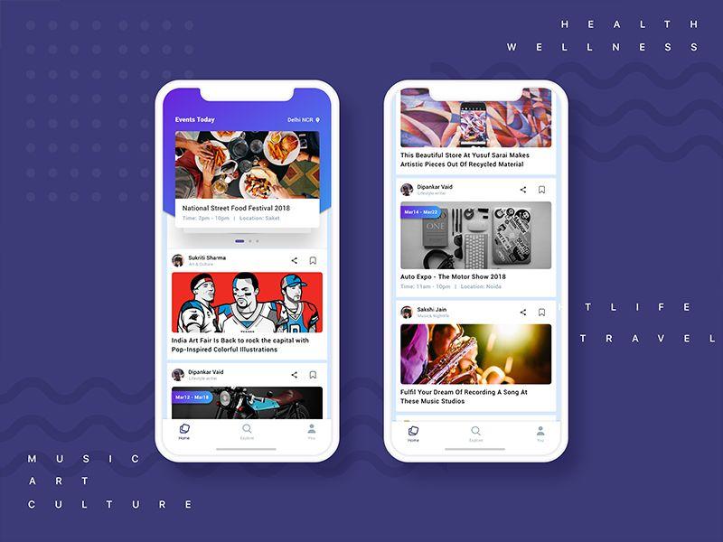 City Secret app (With images) Interactive design, App