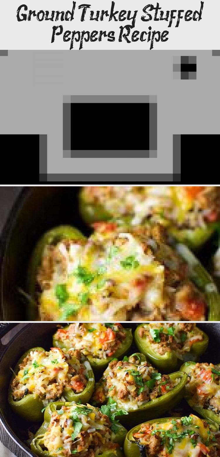 Ground Turkey Stuffed Peppers Recipe - Recipe #stuffedbellpeppers