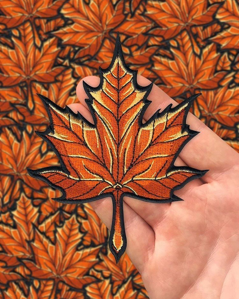 Maple Leaf Patch From @seventh.ink Save 10% Off W/code