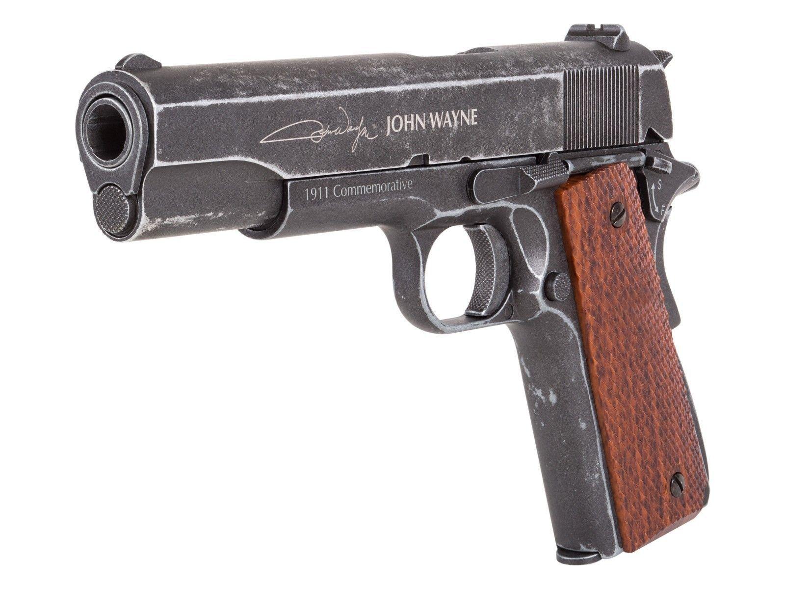Air Venturi John Wayne 1911 Metal CO2 BB Pistol, Brown Grips  Air